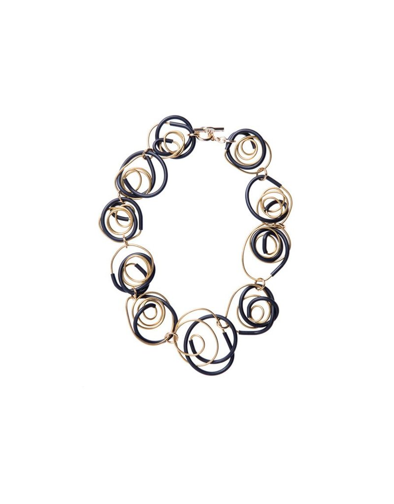 Iron by Miriam Nori GEOMETRIA rubber brass spiral N
