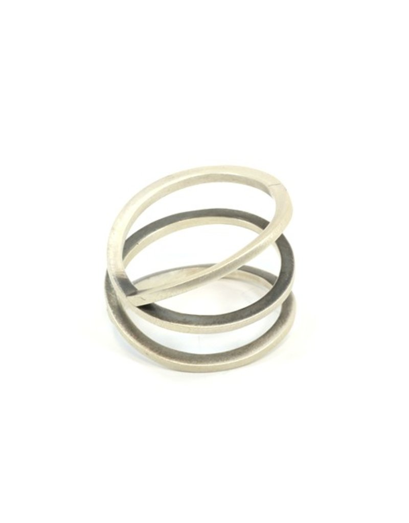 Aines MUELLE spiral silver long R