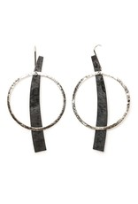 Aines PENDIENTES curved rectangle oxi circle E