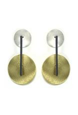 Aines ELIO brass silver circle oxi line E
