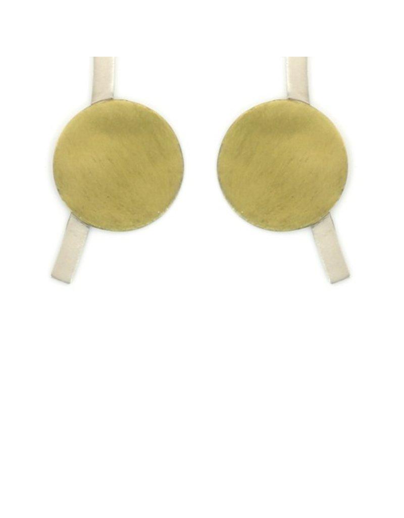 Aines ELIO brass circle silver line E