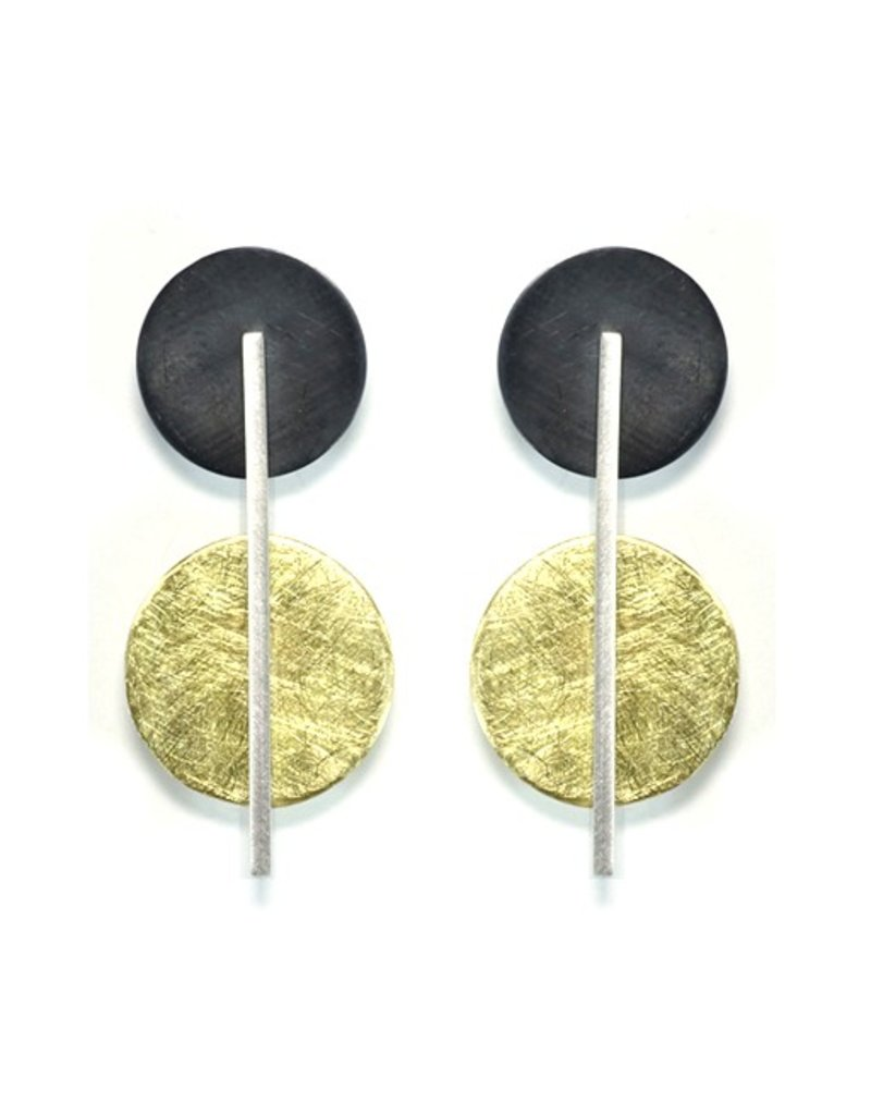 Aines ELIO brass oxi circle silver line E