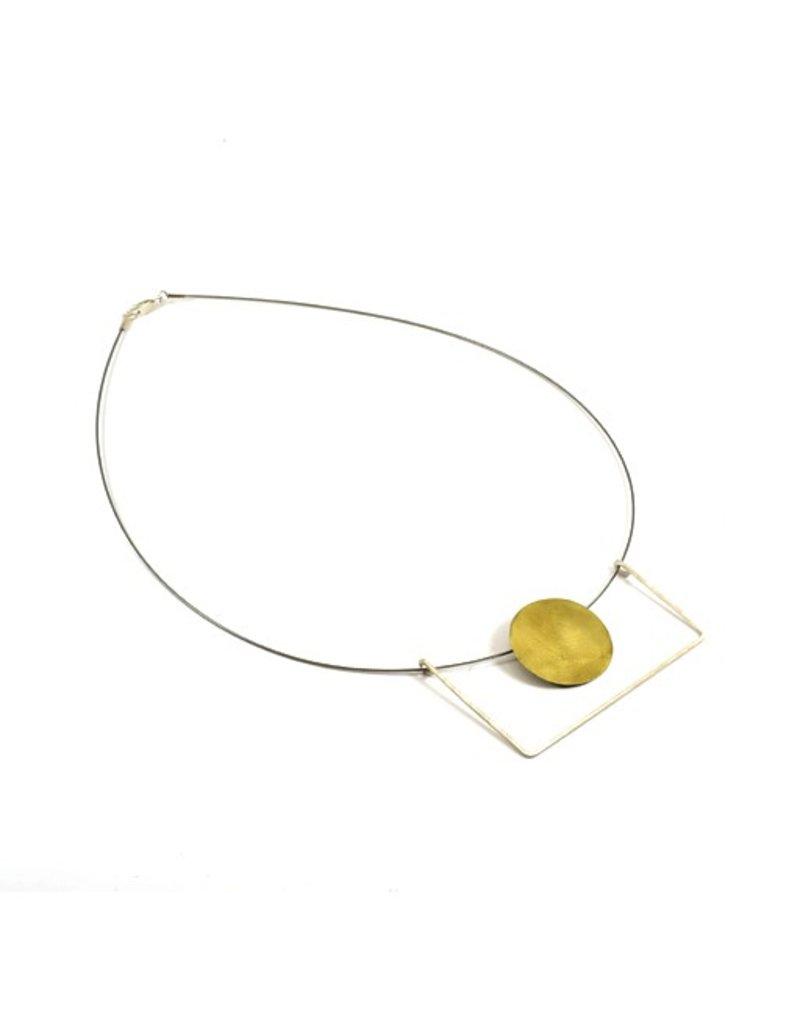 Aines ELIO silver U brass circle N