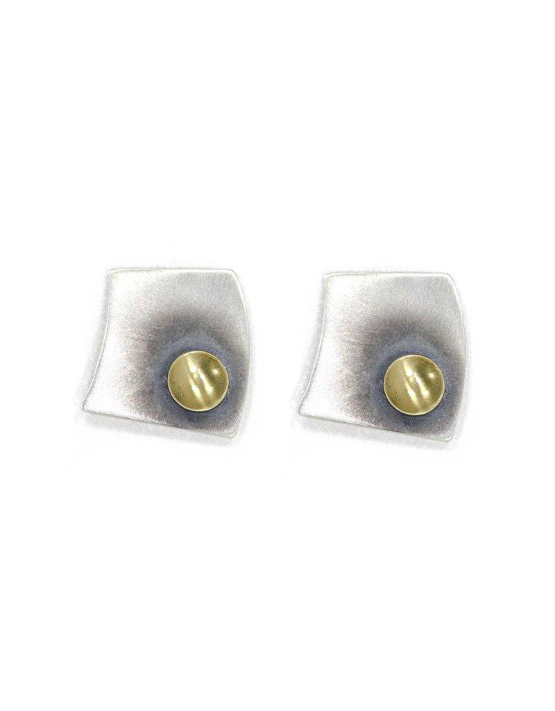 Aines PRIMAVERA irregular silver square gold circle E