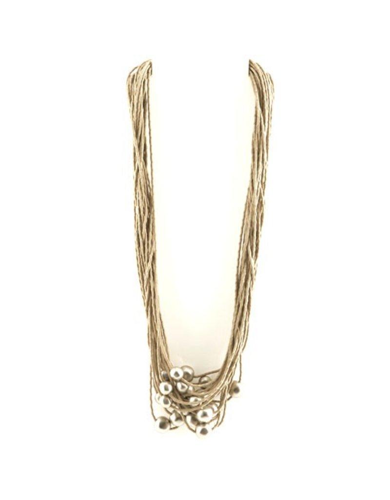 Carme Anglada Metal pearl string long N