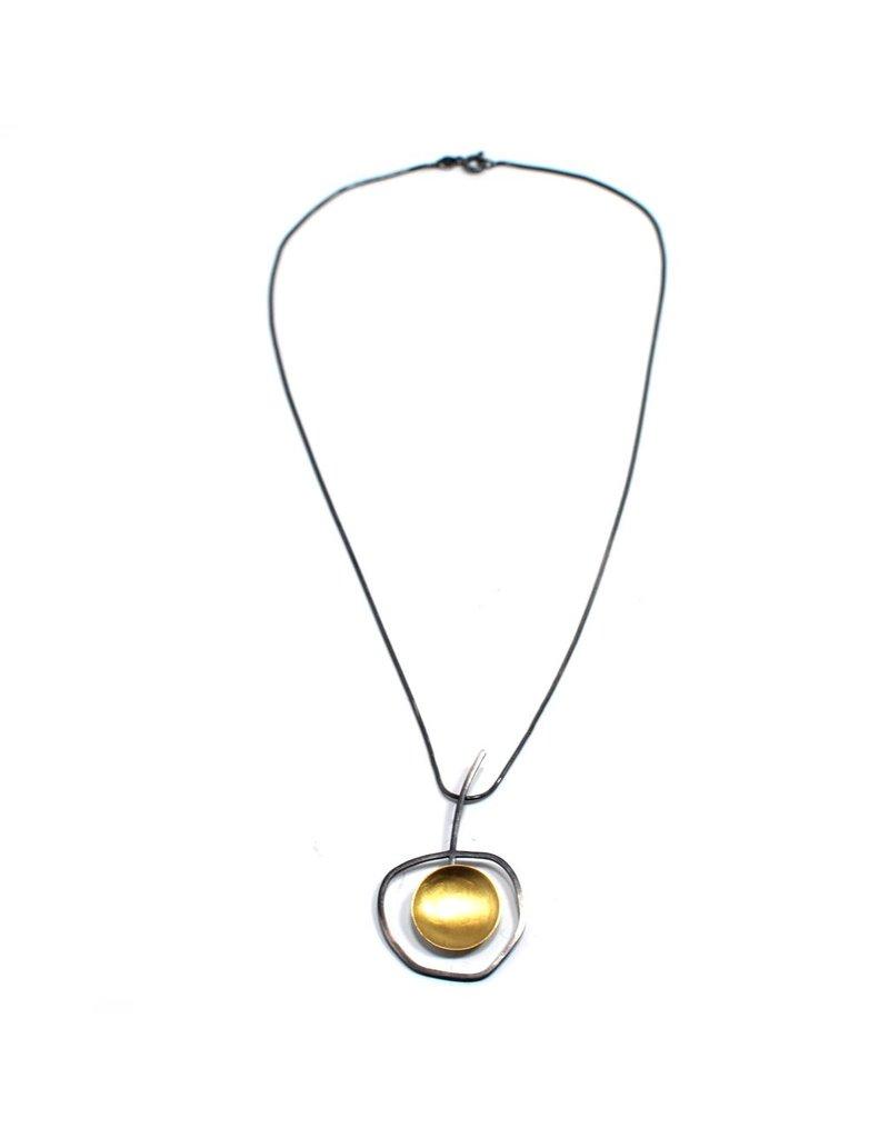 Aines MANZANA gold disc silver Q N