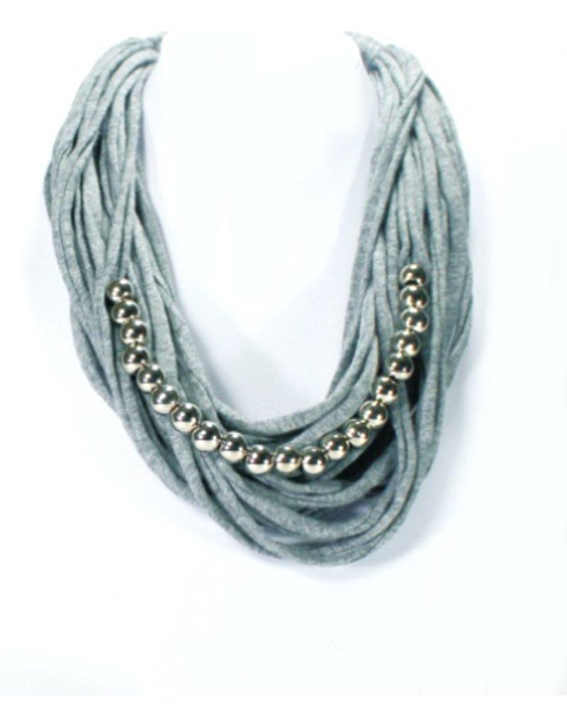 MC1173 grey tshirt silver beads N