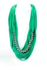 MC1175 green tshirt silver beads N