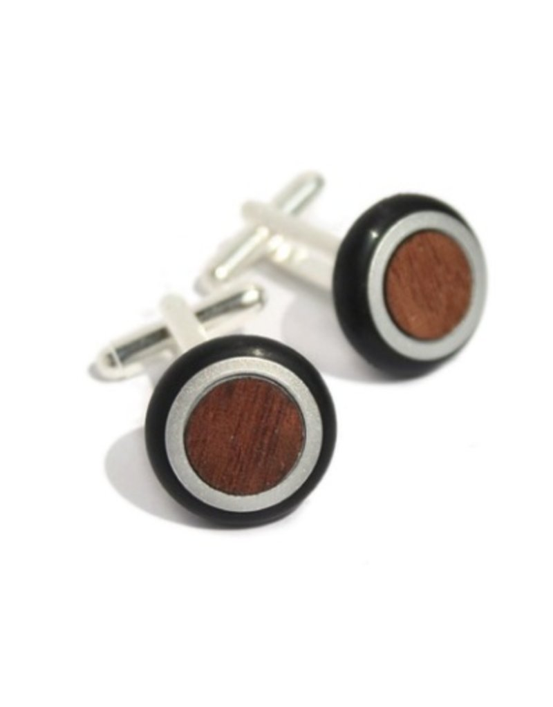 Industrial Jewellery FRANK wood steel cufflinks