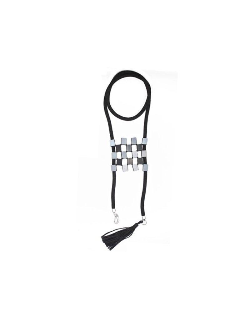 Christina Brampti Aluminium square long tassel chain N