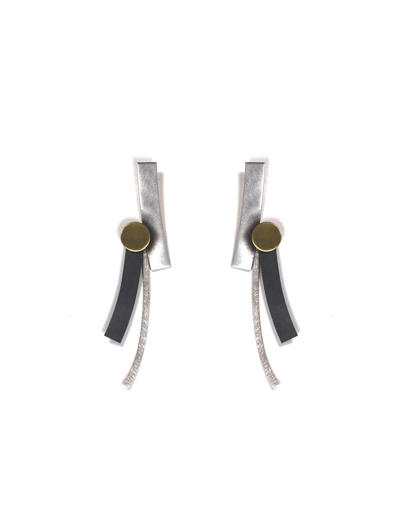 Aines Curved rectangle gold circle E
