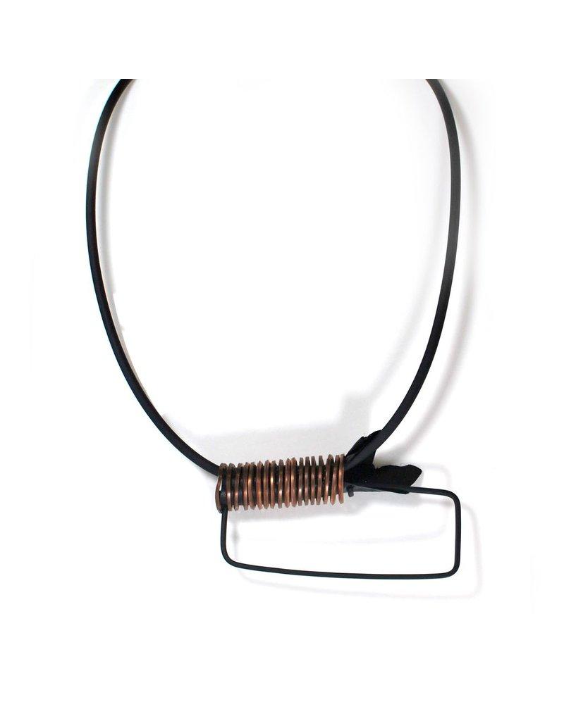 Marija Bajovska Wrapped wire rectangle rubber short N