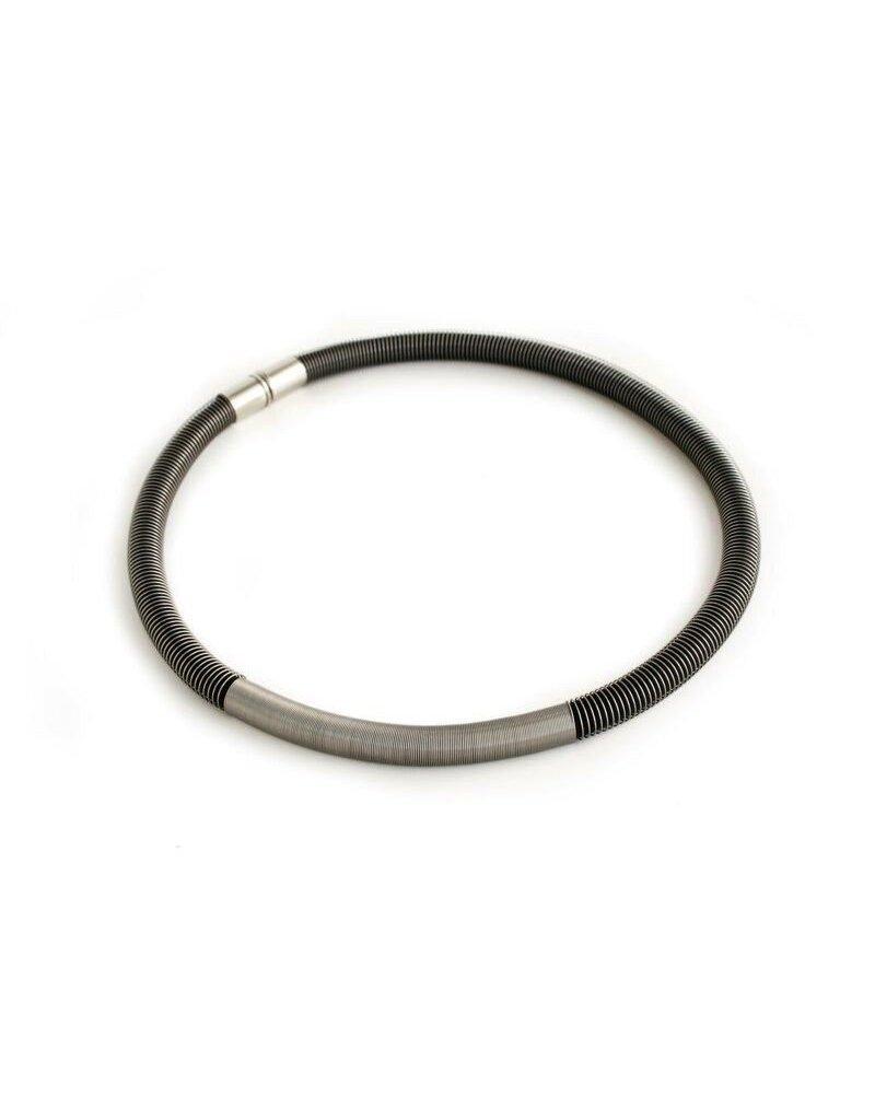 Industrial Jewellery OLIVIA steel spring tube short N