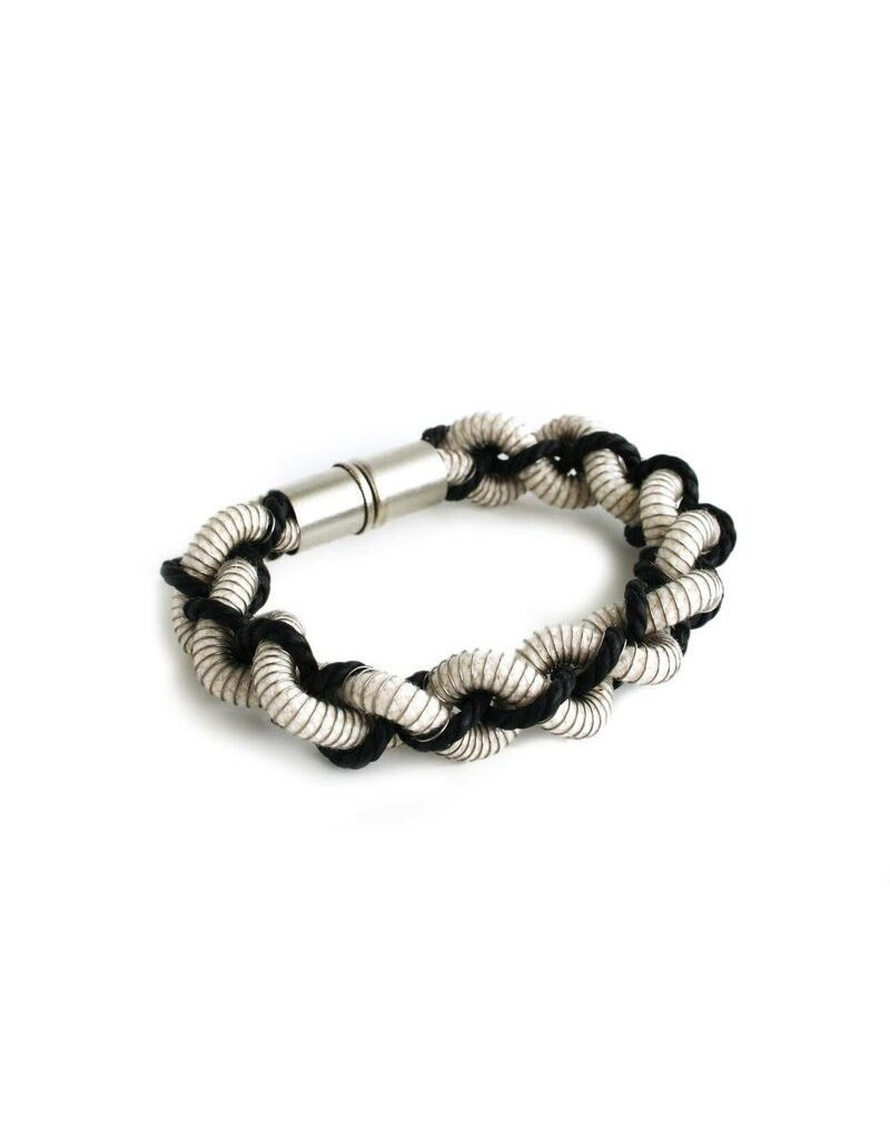 Industrial Jewellery AMELIA rope spring twisted B