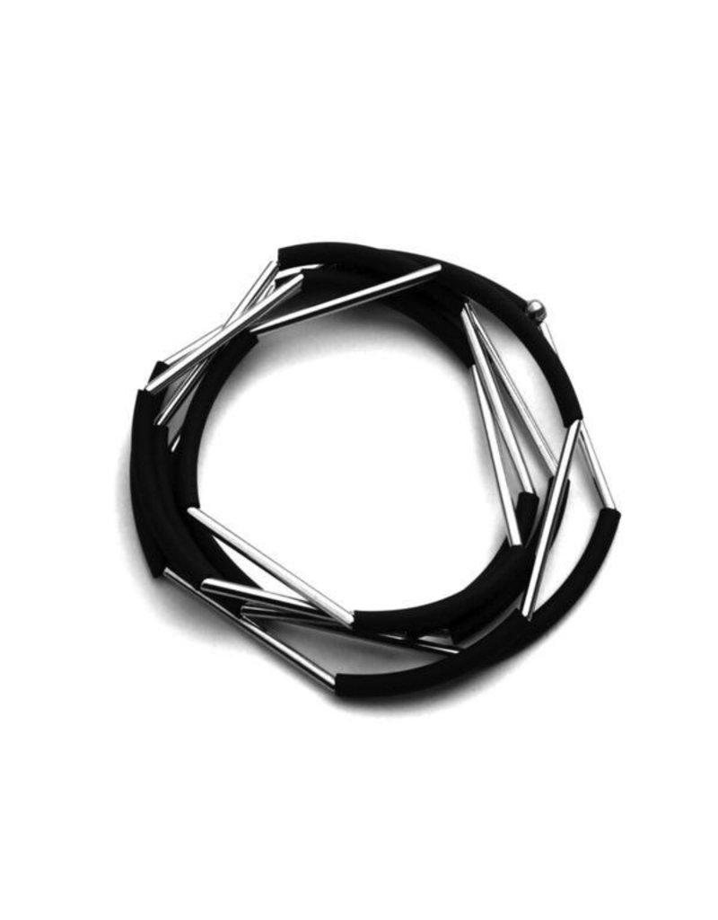 Materia Design NERO rubber brass tube B