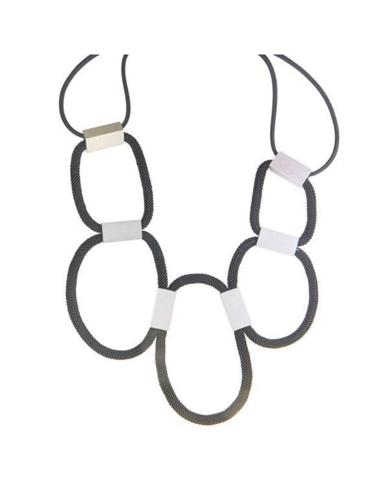 Christina Brampti Silk loop aluminium rectangle N