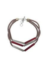 Christina Brampti Aluminium rectangle silk cord N