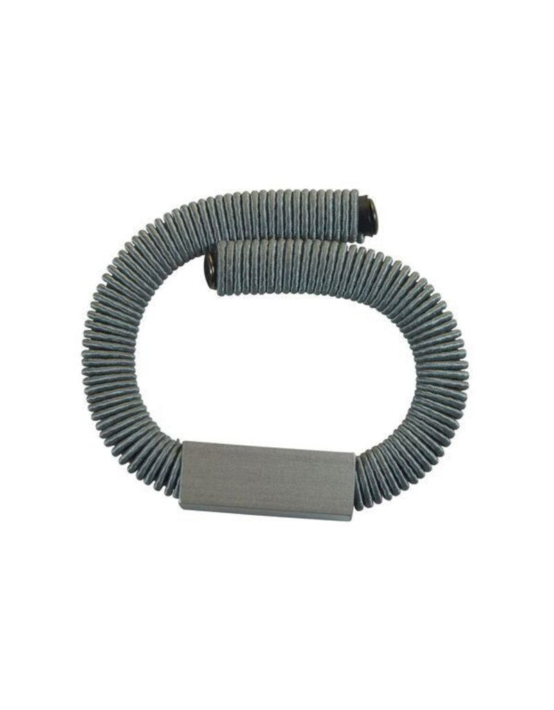 Christina Brampti Silk cord aluminium rectangle B