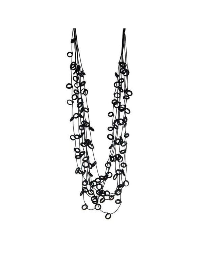 Carme Anglada Glass crystal multi strand long N