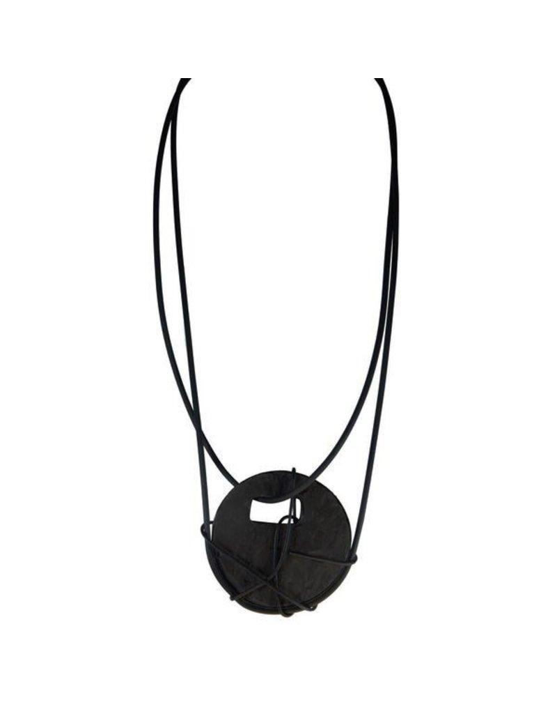 Marija Bajovska Concrete circle wrapped wire double strands N