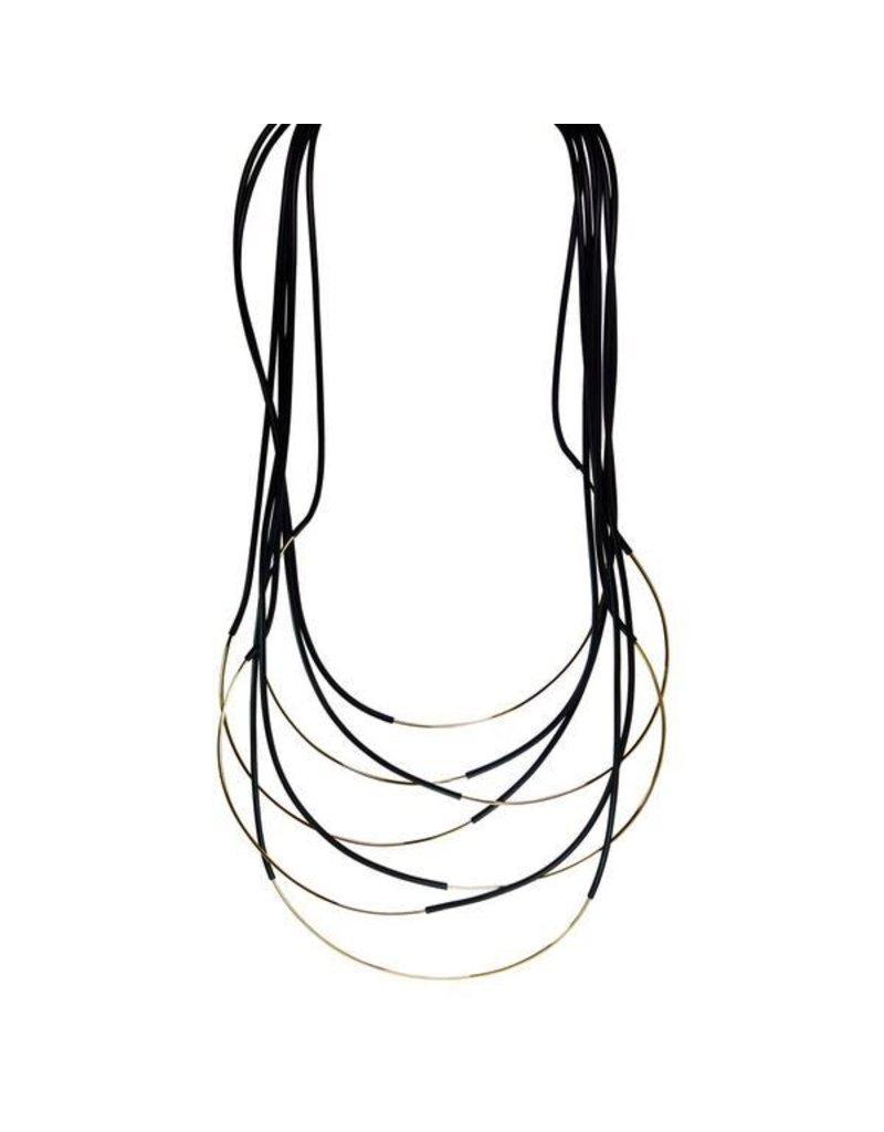 Iron by Miriam Nori Rubber multi string brass long N