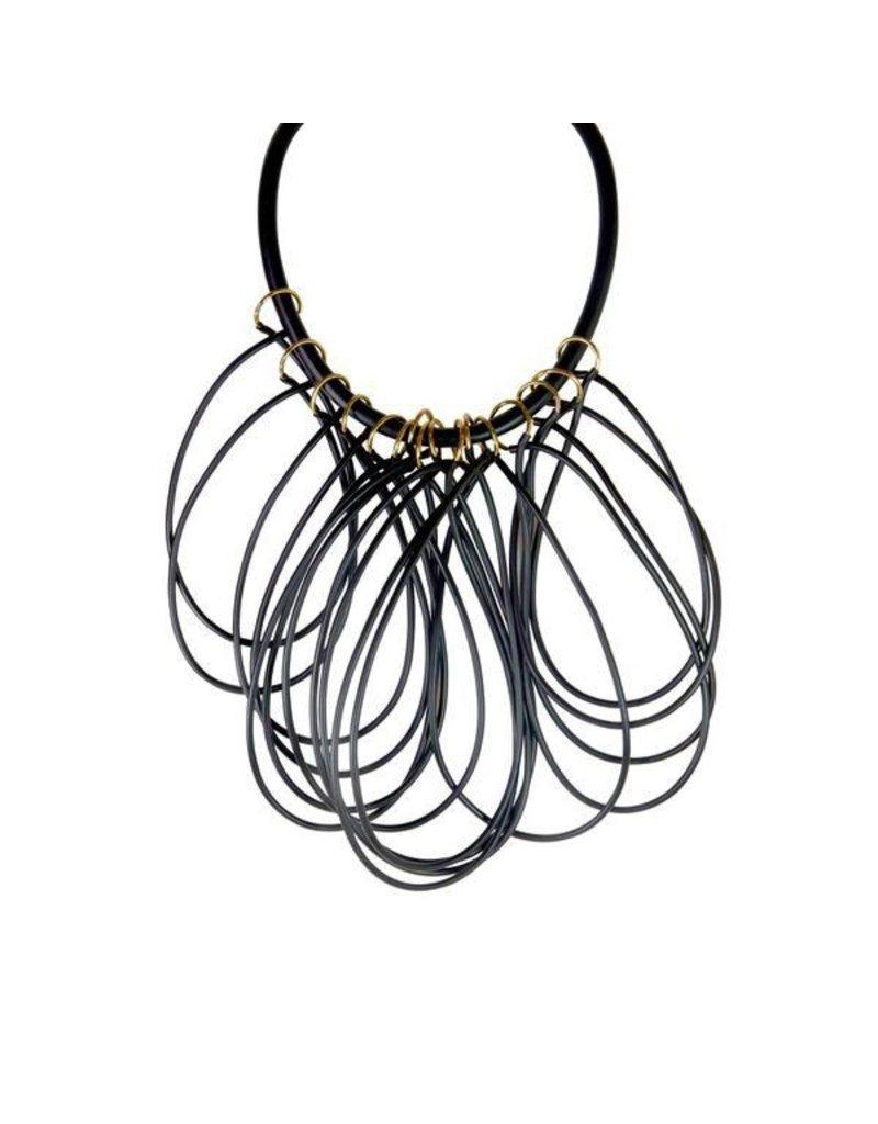 Iron by Miriam Nori Rubber collar loop brass N