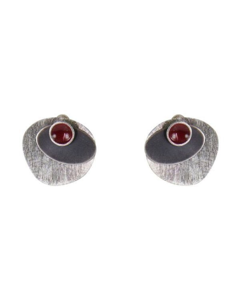 Aines Irregular silver red circle E