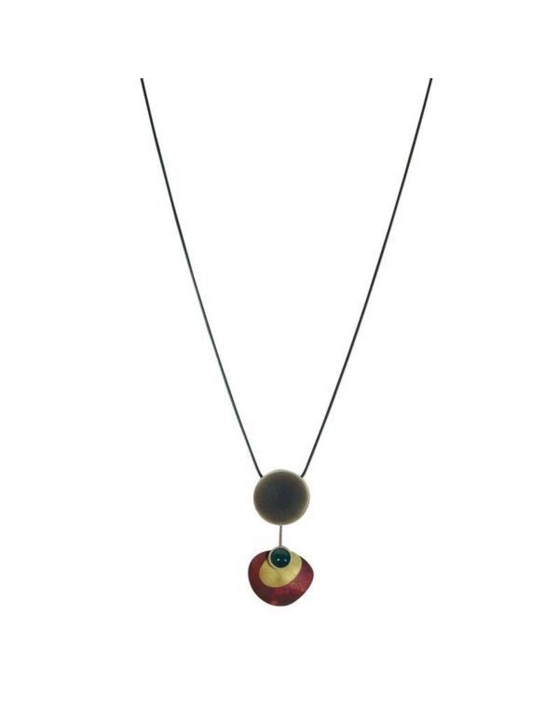 Aines Small silver brass pendant N