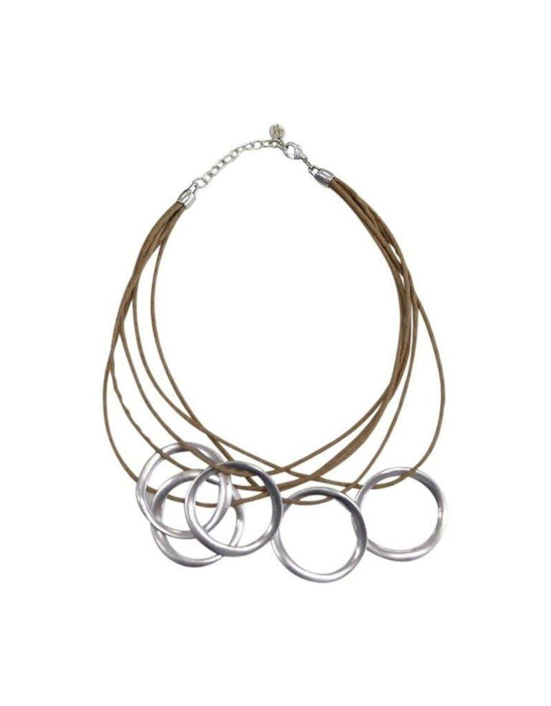 Carme Anglada Multi strand interlocked circle N