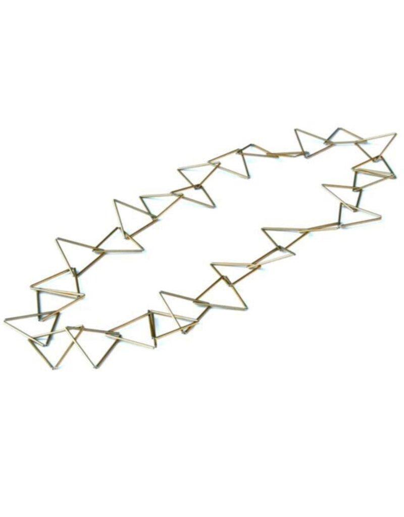 Materia Design TRIA METALLO interlocked triangle N