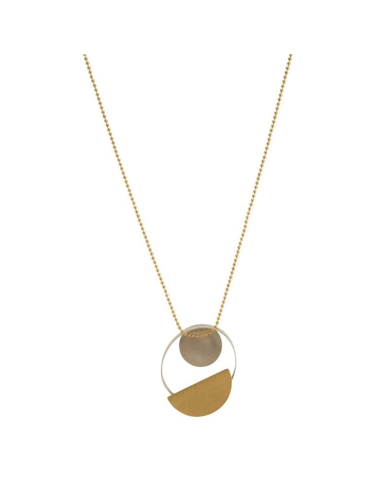 Aines Small disk half circle pendant short N