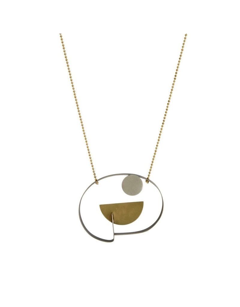 Aines Small disk half circle pendant long N
