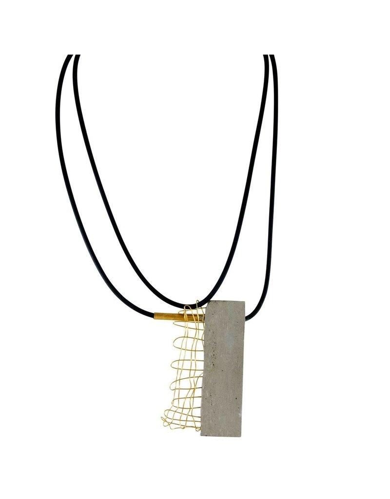 Marija Bajovska Concrete rectangle exposed wire brass tube N