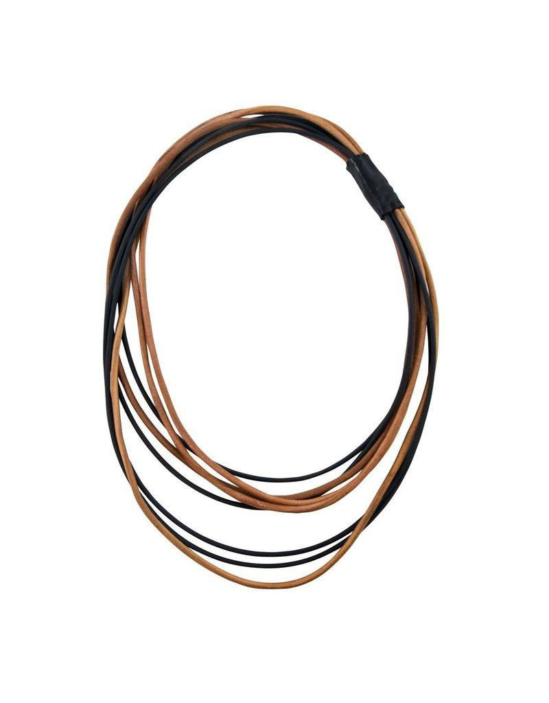 Marija Bajovska Multi strand leather rubber N