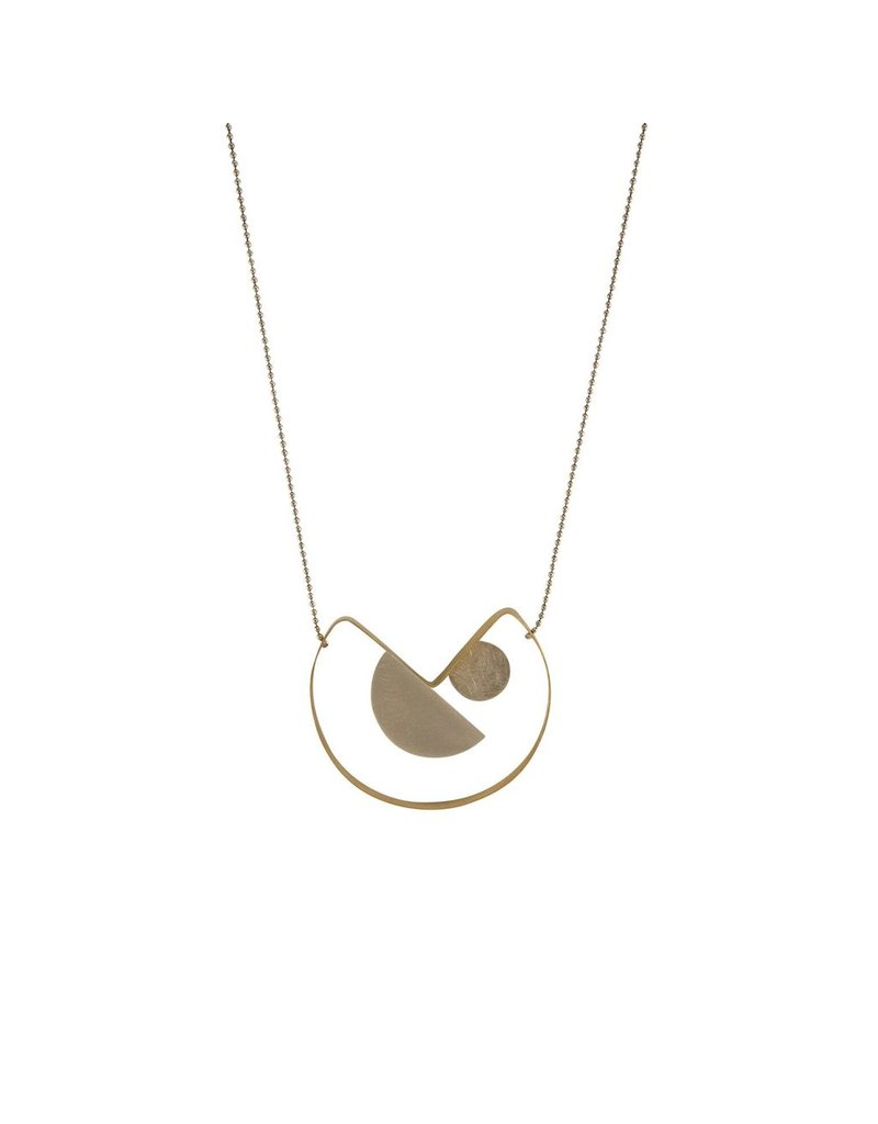 Aines Small disk half circle pendant V long N