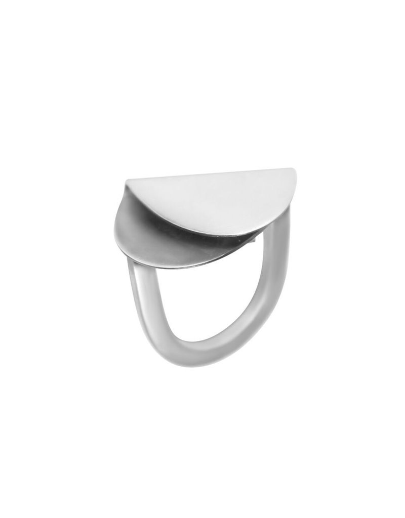 Aines Fold silver oxi oval R