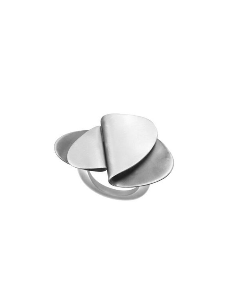 Aines Two Fold silver brass oval R