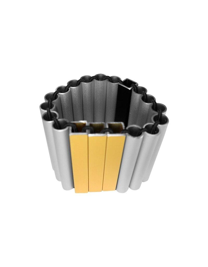 Christina Brampti Large aluminium tube cuff B