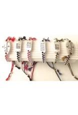 Christina Brampti B1689 metal plate cord B