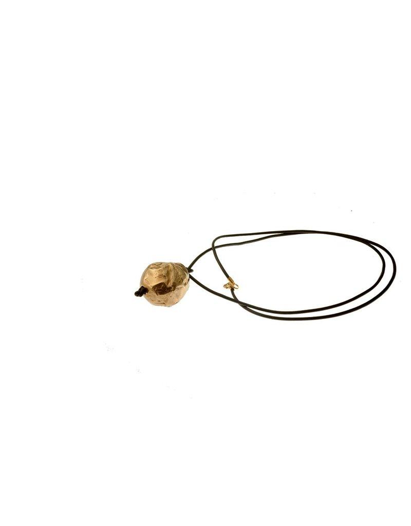 Iron by Miriam Nori Irregular sphere pendant brass N