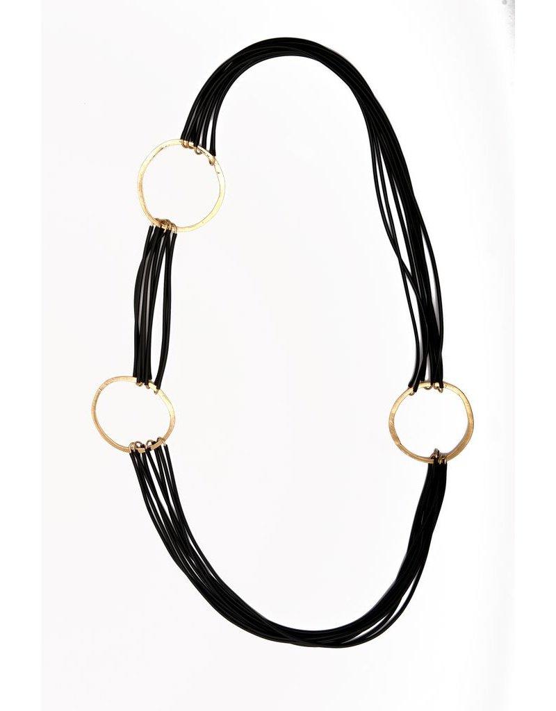 Iron by Miriam Nori PVC brass three circle N