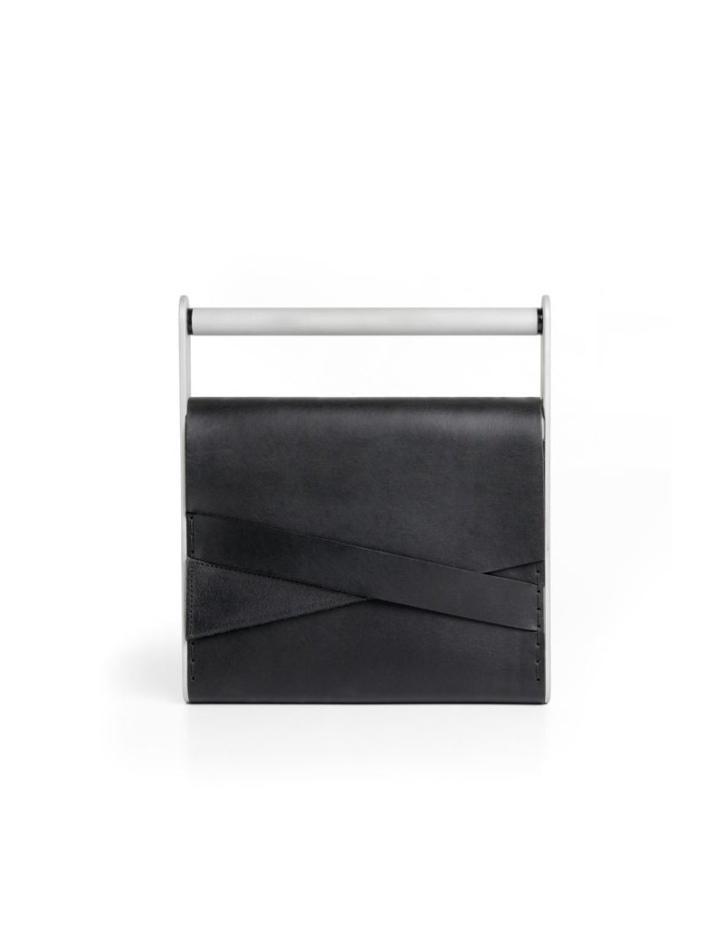 Industrial Jewellery CLUTCH leather handle BAG