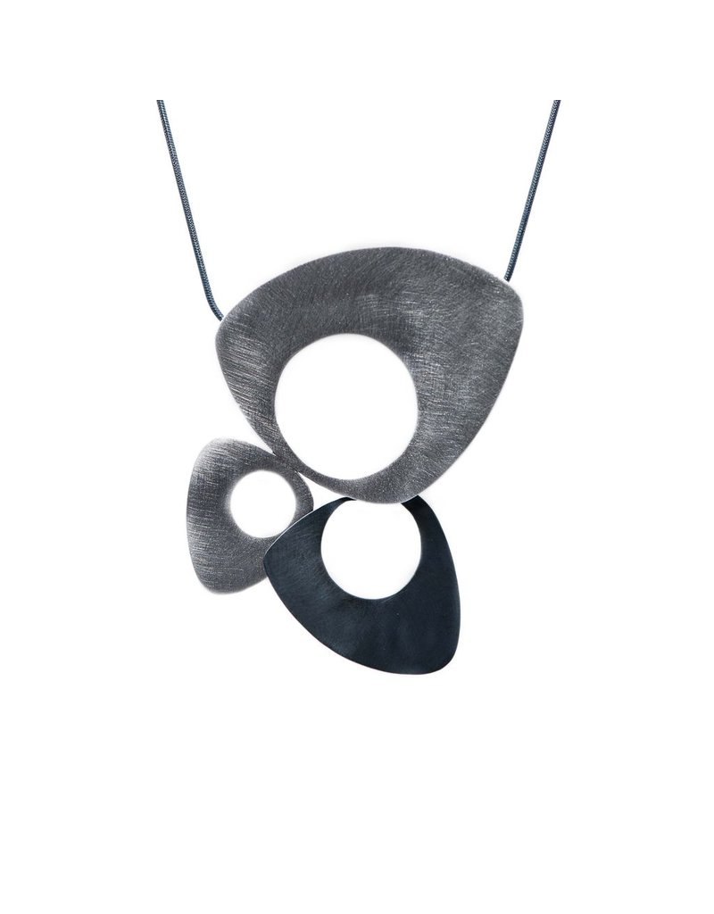 Aines Triangular acid silver pendant N