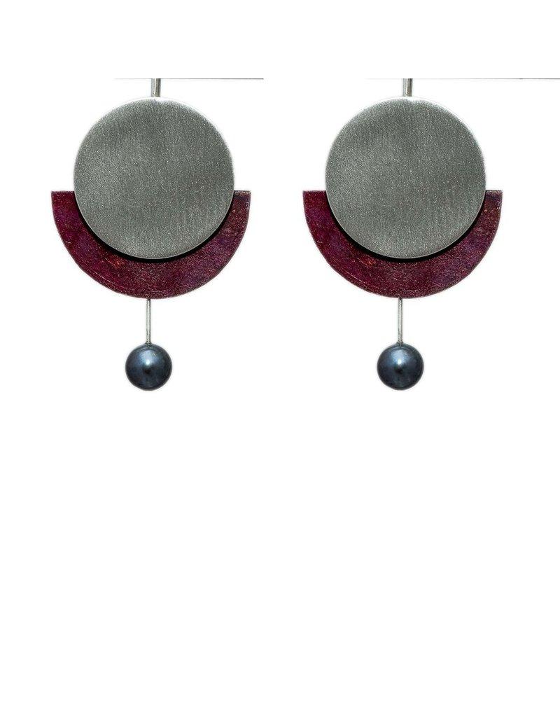 Aines Pearl drop spots silver copper E