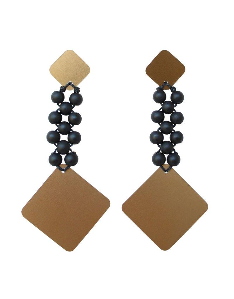 Christina Brampti Cube bead large drop E