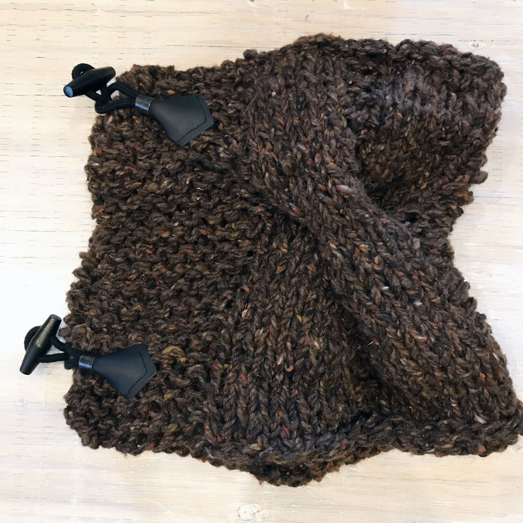 Scarves Nordic Cowl Scarves Brown.