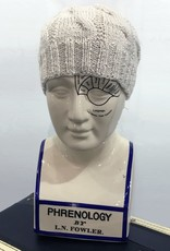 Knit Wear Tim the Cabled Touque in Silk Blend Yarn Cream