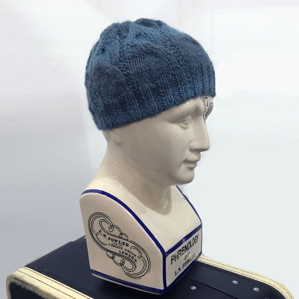 Knit Wear Winter Lake Hand Knit Aqua Cabled Touque.