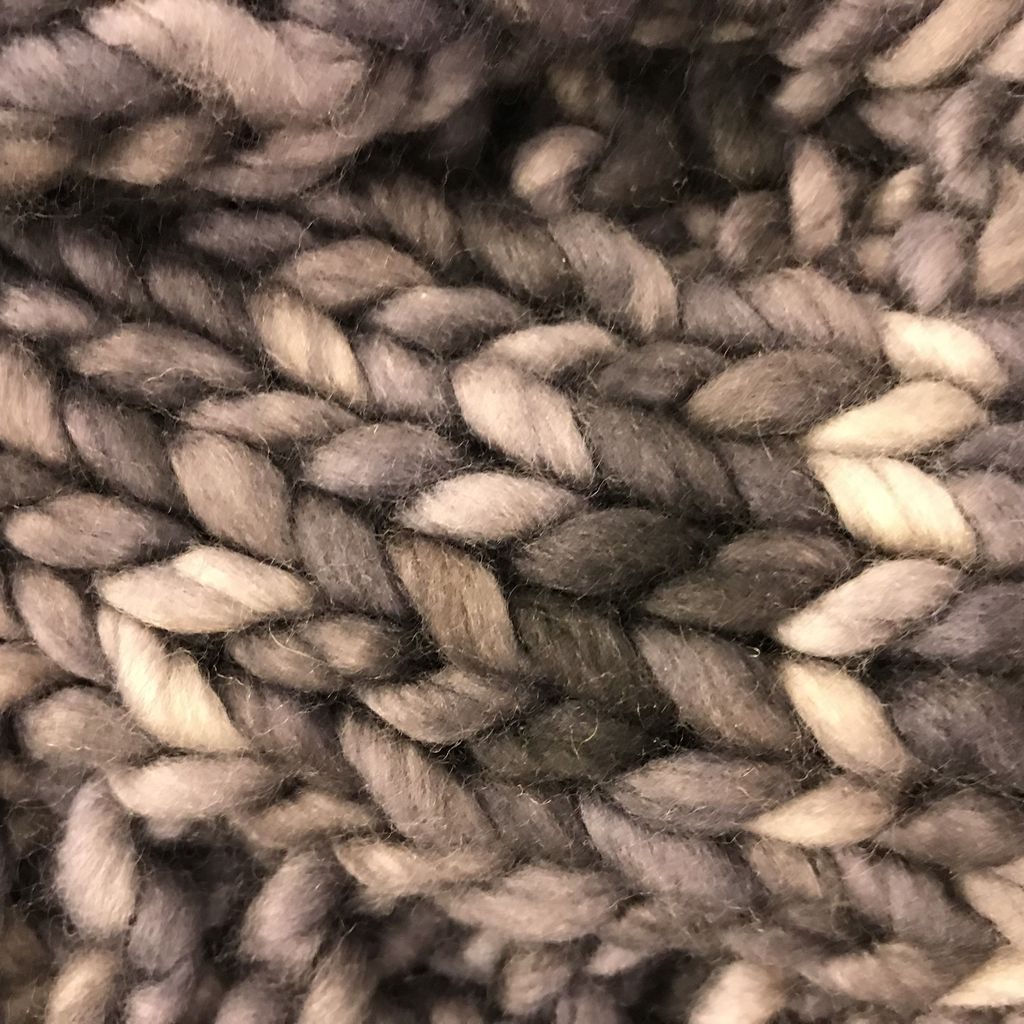 Scarves Summerhill Cable Merino Cowl Dark and Stormy