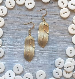 Accessories Womens Large Feather Earrings